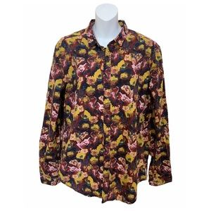 Your Neighbors Floral Button Down Long Sleeve